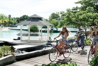 Checked-in guests enjoy complimentary use of specialized Plantation Bay bikes including tandem bikes for the first hour.