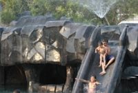 The Kilimanjaro Pool offers a number of slides, water jets, bubblers, sprinklers and more.