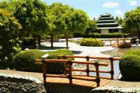 18th Century Japanese Village-inspired Mogambo Springs features Hot, Thallasic, and Cascading Pools, Vichy Shower Rooms, Dry Heat Sauna, Steam Room, and even a Misting Machine, which produces a mist-like spray of fresh water that cools the temperature on a sunny day.