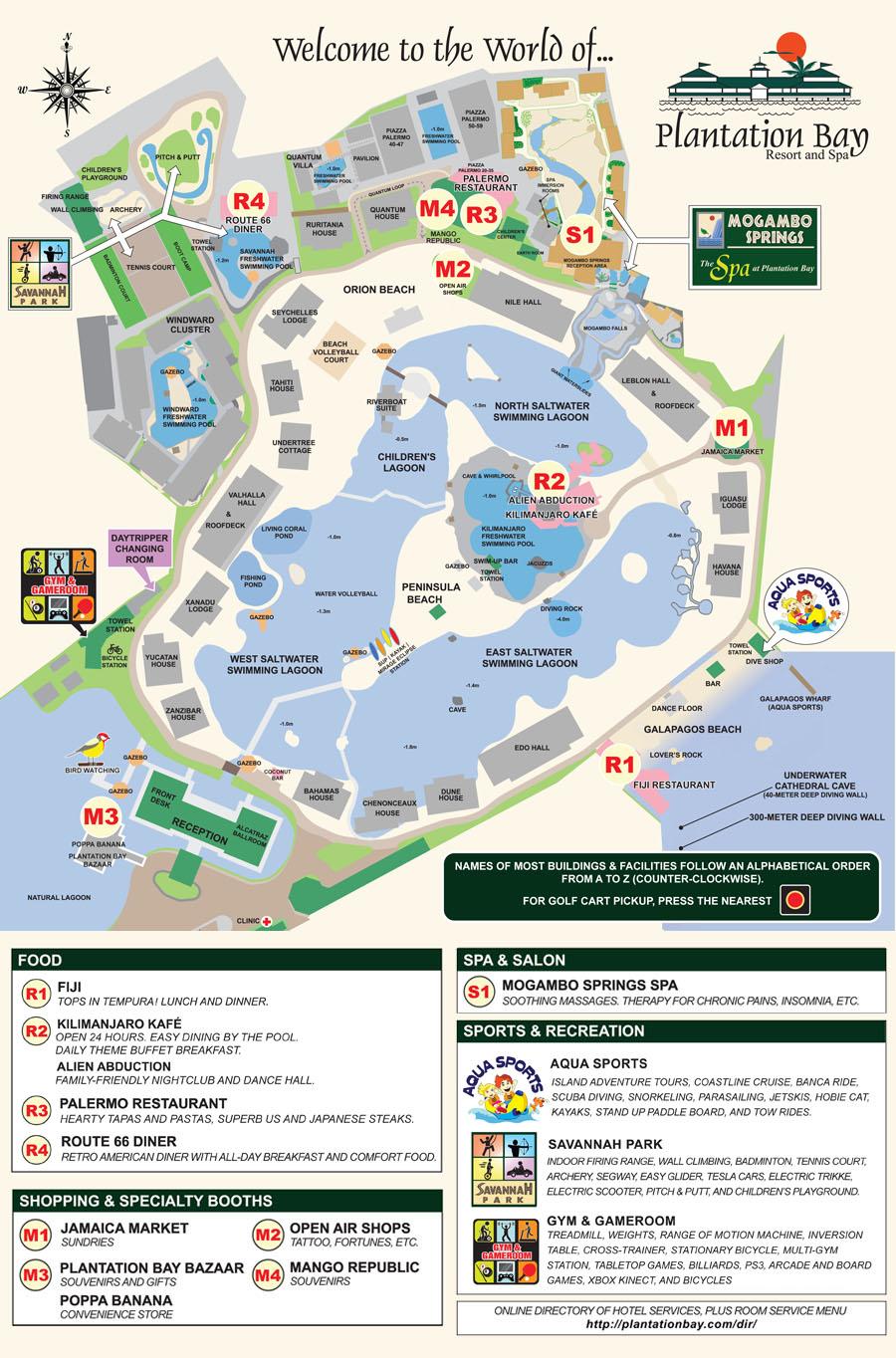 Plantation Bay Resort And Spa Hotel Map
